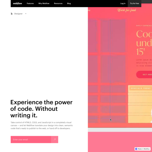 Web design software for designers and developers | Webflow