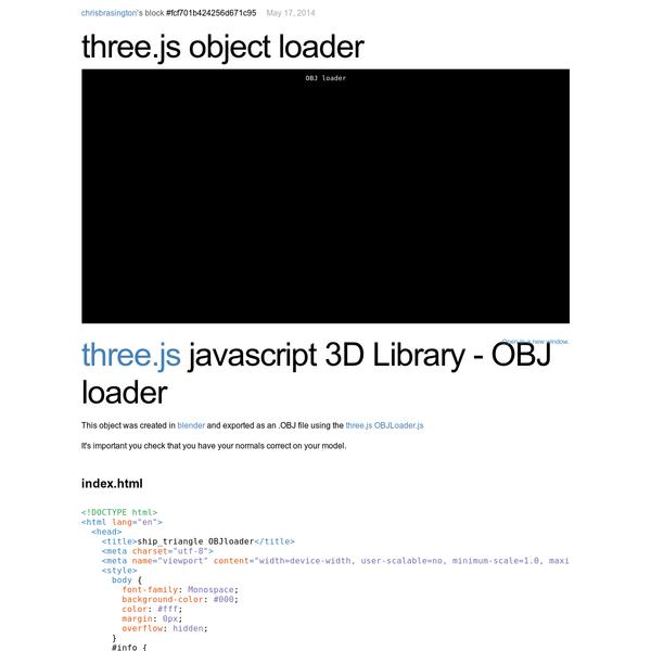 three.js object loader