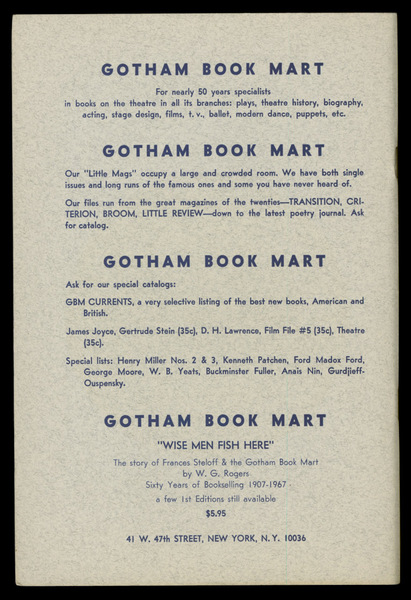 Gotham Book Mart, 1967