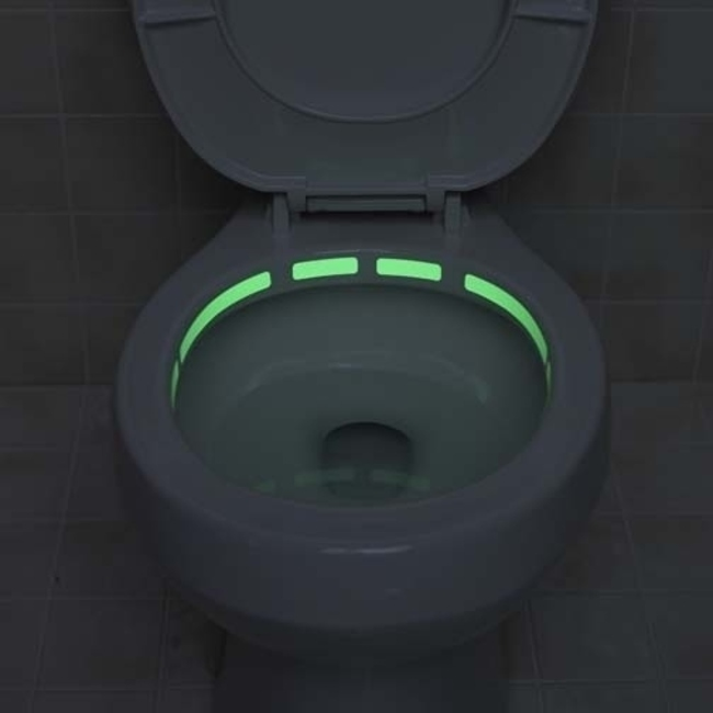 Glow in the dark toilet rim