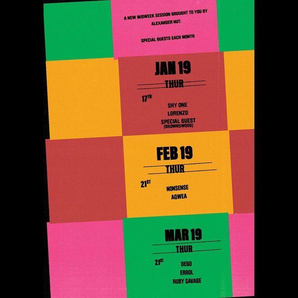 Unused for @alexandernut's Third Thursdays @fivemileslondon * * * * * * * * * * * #poster #artwork #design #designer #poster...