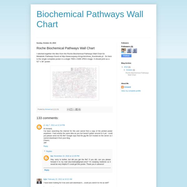 Roche Biochemical Pathways Wall Chart