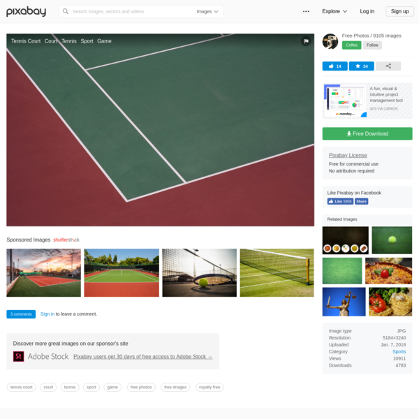 Free Image on Pixabay - Tennis Court, Court, Tennis, Sport