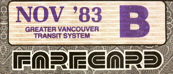 1980s Vancouver transit pass