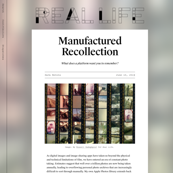 Manufactured Recollection - Real Life