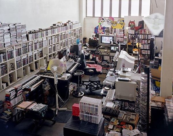 Chris Marker's office in Paris. A picture from the book 'Studio: Remembering Chris Marker'.