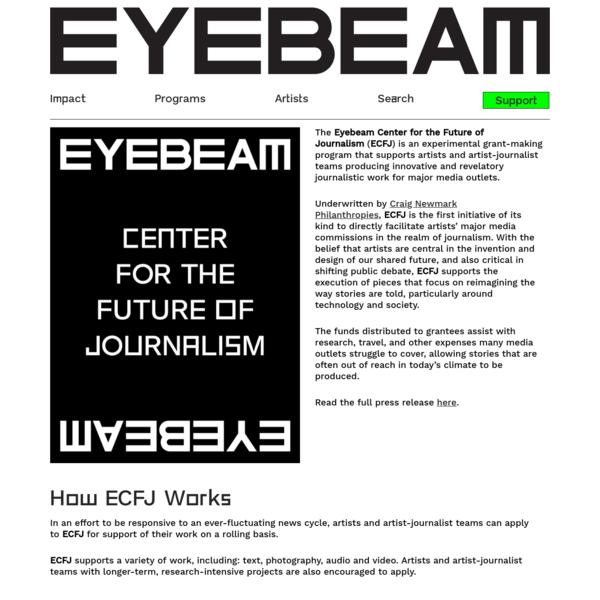 Eyebeam Center for the Future of Journalism - Eyebeam