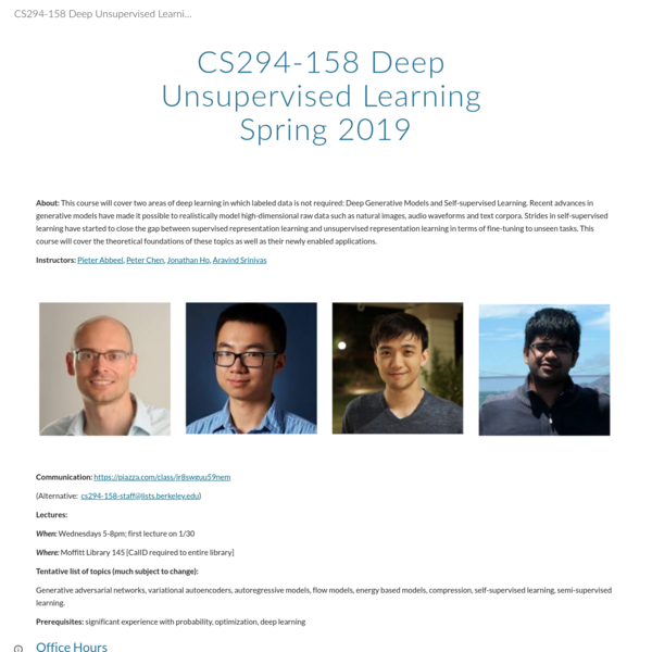 CS294-158 Deep Unsupervised Learning Spring 2018