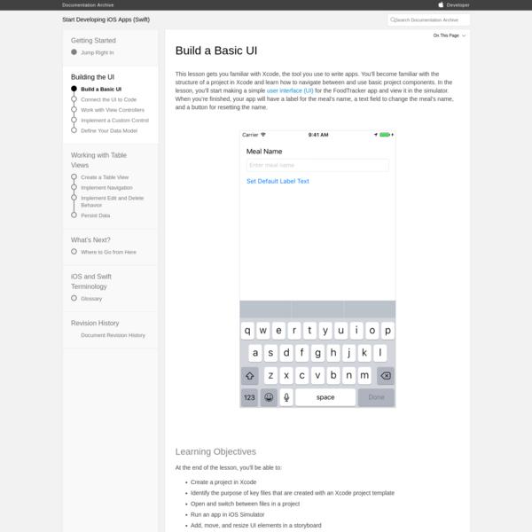 Start Developing iOS Apps (Swift): Build a Basic UI