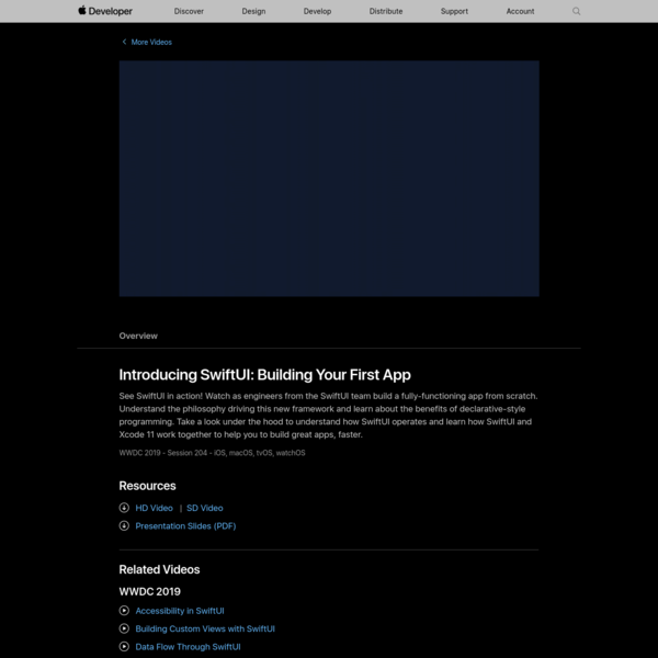 Introducing SwiftUI: Building Your First App - WWDC 2019 - Videos - Apple Developer