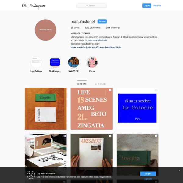 MANUFACTORIEL (@manufactoriel) * Instagram photos and videos