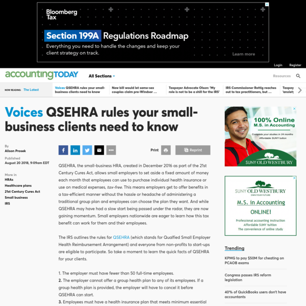 QSEHRA rules your small-business clients need to know