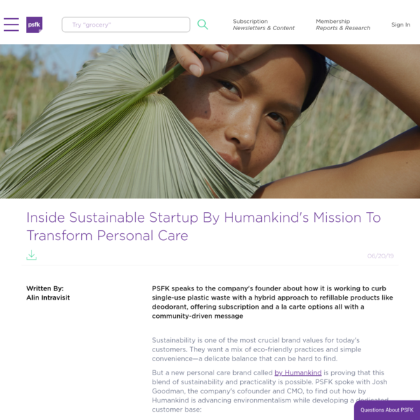 Inside By Humankind's Mission To Transform Personal Care
