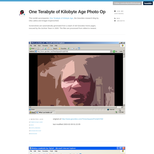 One Terabyte of Kilobyte Age Photo Op