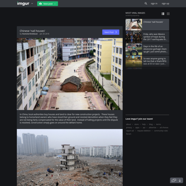 Chinese 'nail houses'