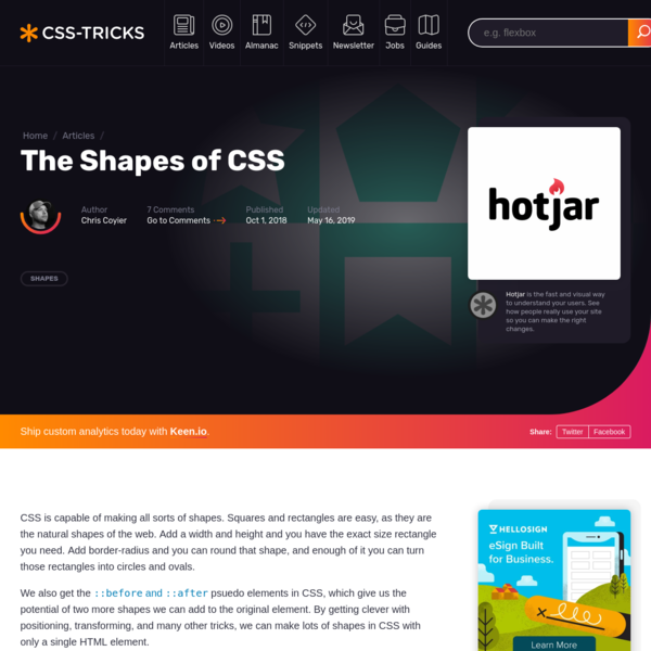 The Shapes of CSS | CSS-Tricks