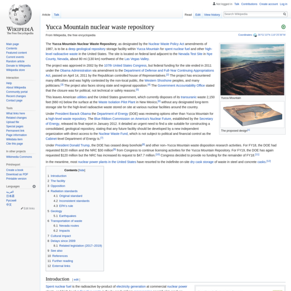 Yucca Mountain nuclear waste repository - Wikipedia