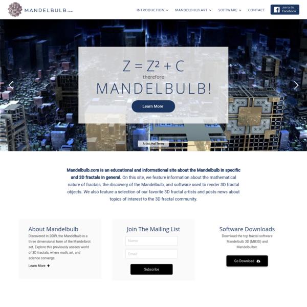 Mandelbulb.com | The 3D Fractal Experience