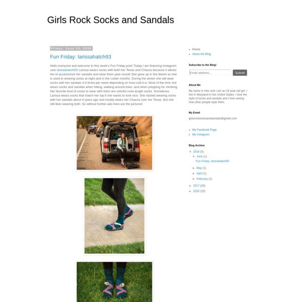 Girls Rock Socks and Sandals