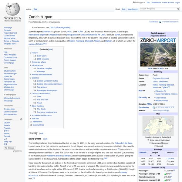Zurich Airport - Wikipedia