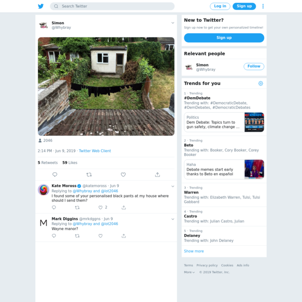 Simon on Twitter