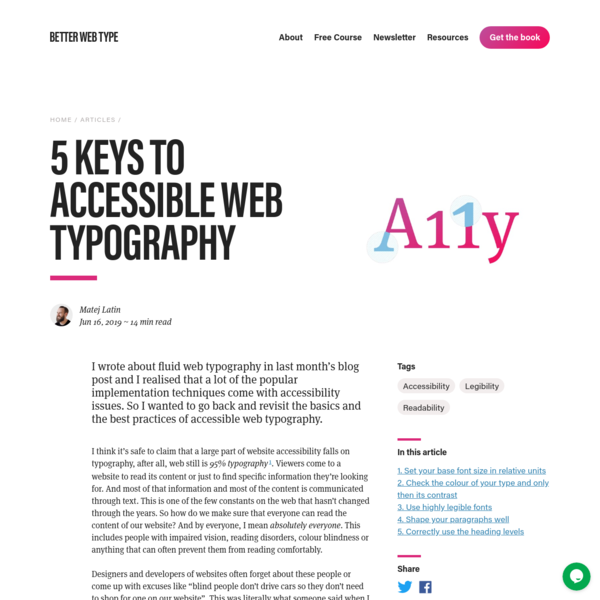 5 Keys to Accessible Web Typography