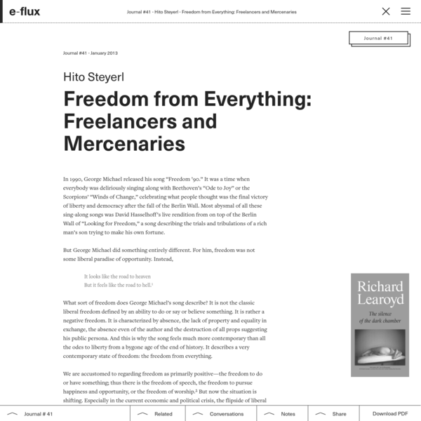 Freedom from Everything: Freelancers and Mercenaries