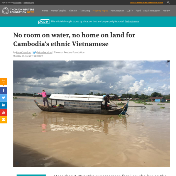 No room on water, no home on land for Cambodia's ethnic Vietnamese