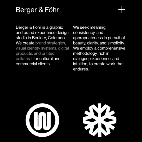 Berger & Föhr - Graphic & Brand Design