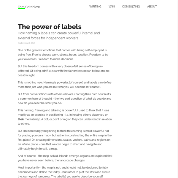 The power of labels