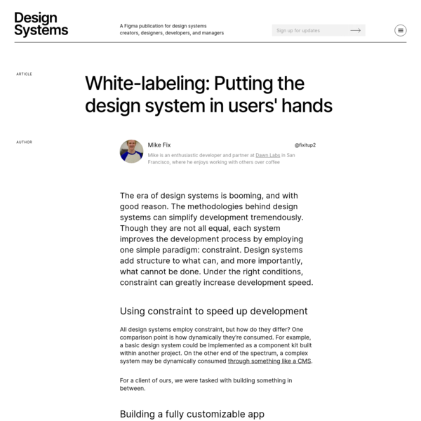White-labeling: Putting the design system in users' hands