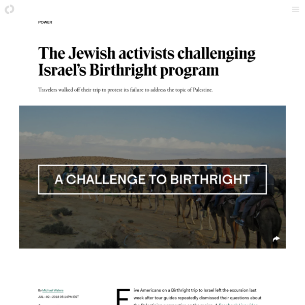 The Jewish activists challenging Israel's Birthright program