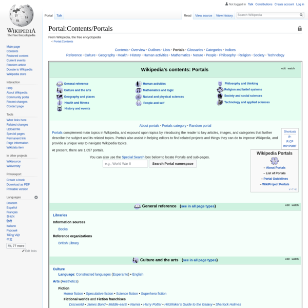 Portal:Contents/Portals - Wikipedia