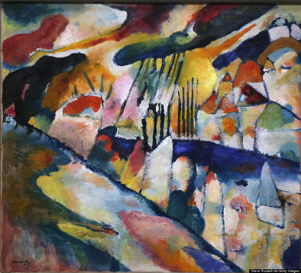 Vasily Kandinsky, Landscape with rain, 1913