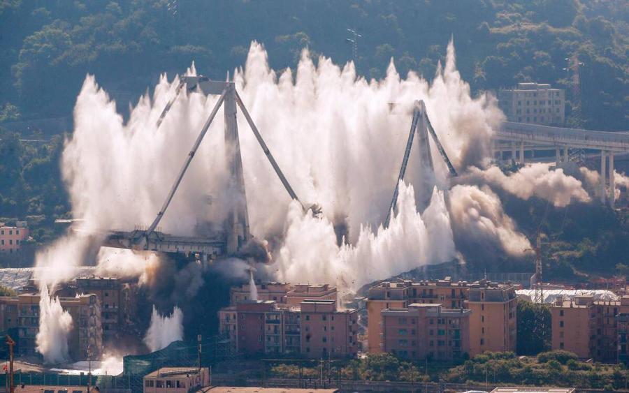 Morandi bridge demolition