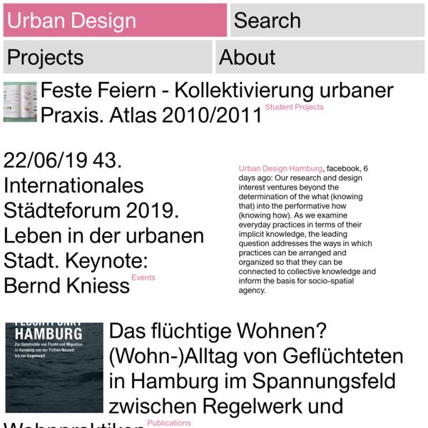 Urban Design - HCU Hafen City Universitaet Hamburg