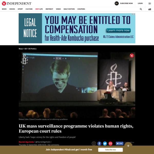 UK mass surveillance programme violates human rights, European court rules