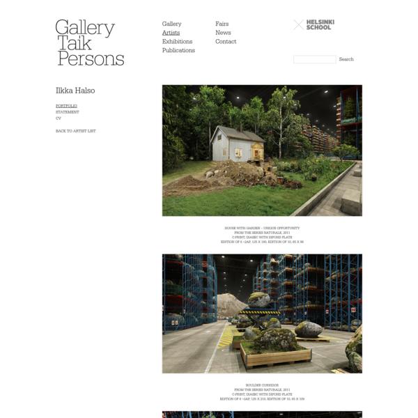 Gallery Taik Persons | Artists | Ilkka Halso | Portfolio | Portfolio