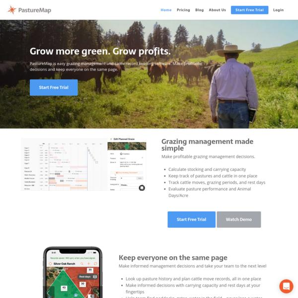 PastureMap Grazing Management & Cattle Record Keeping Software   PastureMap Grazing Management & Livestock Software