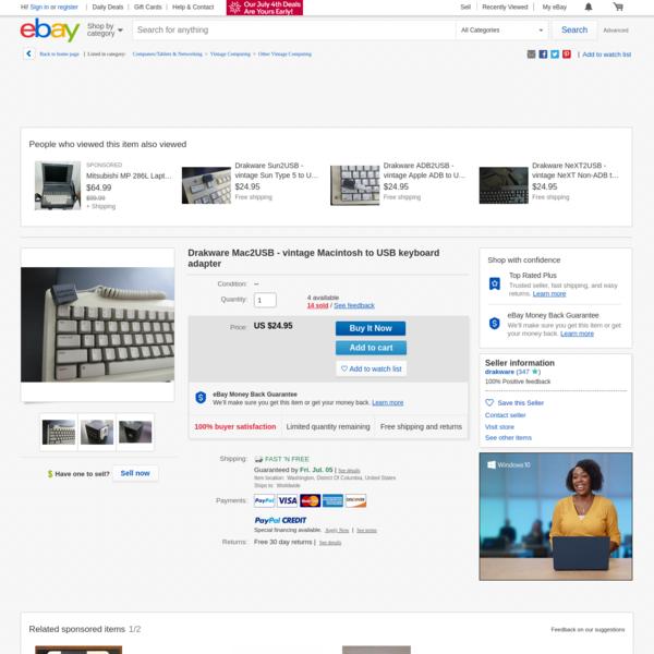 Drakware Mac2USB - vintage Macintosh to USB keyboard adapter | eBay