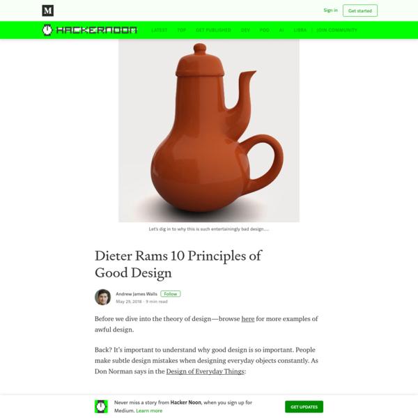 Dieter Rams 10 Principles of Good Design
