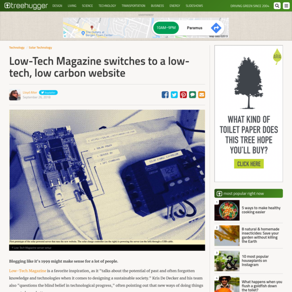 Low-Tech Magazine switches to a low-tech, low carbon website