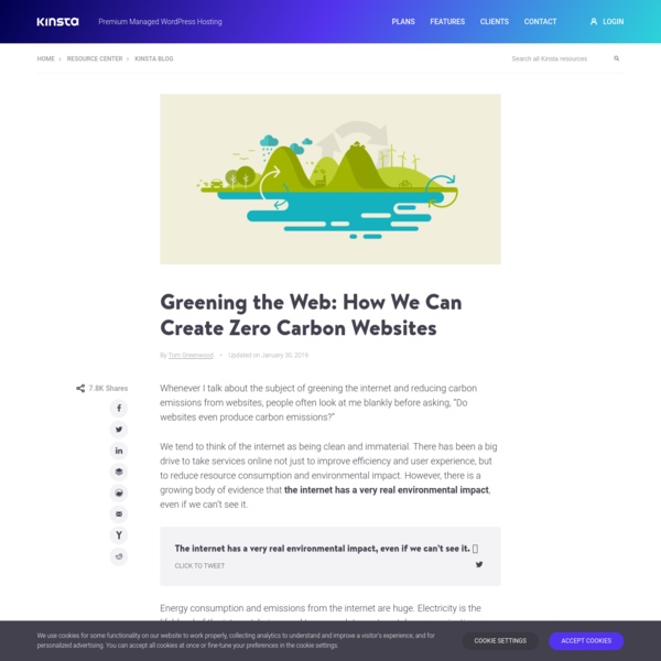 Greening the Web: How We Can Create Zero Carbon Websites