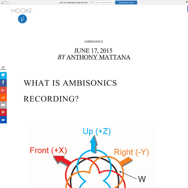 What Is Ambisonics Recording? https://ccrma.stanford.edu/~hanaboy/220a/fp.html_files/image0.png BINAURAL FOR VR APPLICATIONS The immersive audio space is heading up these days, mainly due to the rise of virtual reality products like Occulus, Magic Leap and Google Cardboard. There's many different paths one can take when creating immersive audio for VR applications.
