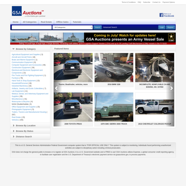 GSA Auctions®, General Services Administration, Government Site for Auctions