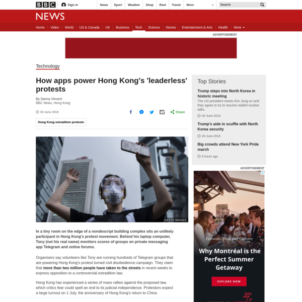 How apps power Hong Kong's leaderless protests