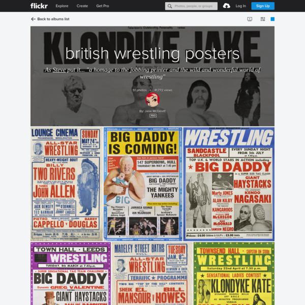 british wrestling posters