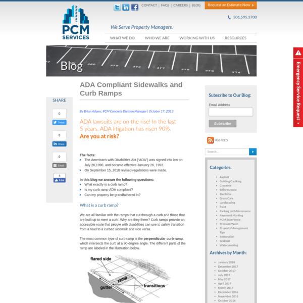 ADA Compliant Sidewalks and Curb Ramps - PCM