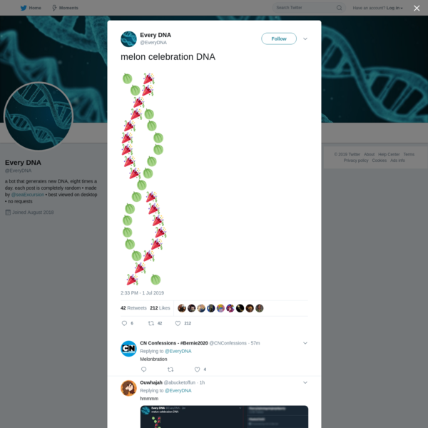 Every DNA on Twitter