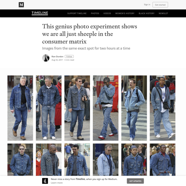 This genius photo experiment shows we are all just sheeple in the consumer matrix